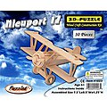 Nieuport 17 Biplane (7.5'' Wingspan) -- Wooden 3D Jigsaw Puzzle -- #1023