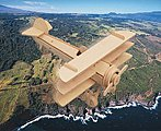 Sopwith Triplane (8'' Wingspan) -- Wooden 3D Jigsaw Puzzle -- #1024
