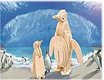Penguin (6'' Tall) -- Wooden 3D Jigsaw Puzzle -- #1058