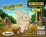 Squirrel (4.7'' Tall) -- Wooden 3D Jigsaw Puzzle -- #1091