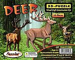 Deer (9'' Long) -- Wooden 3D Jigsaw Puzzle -- #1108