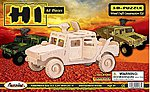 Military H1 Hummer Skeleton Puzzle (8.5'' Long) -- Wooden 3D Jigsaw Puzzle -- #1206