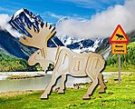 Moose (10'' Long) -- Wooden 3D Jigsaw Puzzle -- #1212