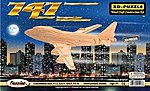 B747 Airliner (11'' Wingspan) -- Wooden 3D Jigsaw Puzzle -- #1217