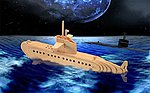 Submarine (13.5'' Long) -- Wooden 3D Jigsaw Puzzle -- #1242