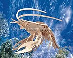 Lobster (12'' Long) -- Wooden 3D Jigsaw Puzzle -- #1256