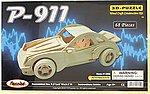 Porsche 911 Car Skeleton Puzzle (9.5'' Long) -- Wooden 3D Jigsaw Puzzle -- #1305