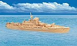 Cruiser Warship (18'' Long) -- Wooden 3D Jigsaw Puzzle -- #1510