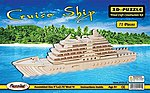 Cruise Ship (9'' Long) -- Wooden 3D Jigsaw Puzzle -- #1515