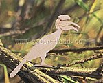 Hornbill Bird (7.5'' Tall) -- Wooden 3D Jigsaw Puzzle -- #e34