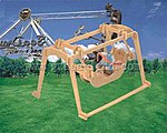 Pirate Ship Carnival Ride (8'' Long) -- Wooden 3D Jigsaw Puzzle -- #p34