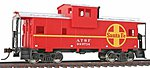 Wide Vision Caboose R2R Atchison, Topeka & Santa Fe -- Model Train Freight Car -- HO Scale -- #1503