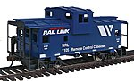 Wide Vision Caboose Montana Rail Link (blue) -- Model Train Freight Car -- HO Scale -- #1530