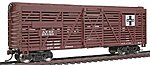 40' Stock Car Ready to Run Santa Fe -- Model Train Freight Car -- HO Scale -- #1681
