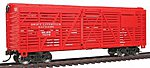 40' Stock Car Ready to Run Swift -- Model Train Freight Car -- HO Scale -- #1684