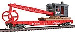 Flatcar w/Logging Crane Canadian Pacific -- Model Train Freight Car -- HO Scale -- #1781