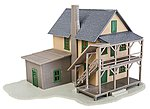 Rooming House Kit -- HO Scale Model Railroad Building -- #914