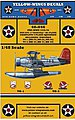 USN Curtiss SOC3 Seagull Plane Sq. -- Plastic Model Aircraft Decal -- 1/48 Scale -- #48046