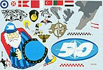Vivacious Vipers #1 F16 in International Service -- Plastic Model Aircraft Decal -- 1/32 -- #32007