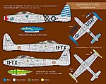 F84E/G Thunderjet Pt.1 for HBO (USA, France) -- Plastic Model Aircraft Decal -- 1/32 -- #32044
