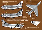 USN CAG A7E Corsair II -- Plastic Model Aircraft Decal -- 1/48 Scale -- #48042