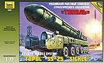 Topol M Missile Launcher (New Tool) -- Plastic Model Military Truck Kit -- 1/72 Scale -- #5003