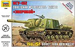 ISU-152 Soviet Self Propelled Gun -- Plastic Model Military Vehicle Kit -- 1/72 Scale -- #5026