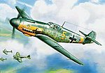 Messerschmitt BF-109 F-2 -- Plastic Model Airplane Kit -- 1/144 Scale -- #6116