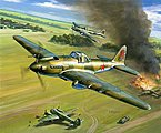 IL2 Mod 1941 Stormovik Fighter (Snap) -- Plastic Model Airplane Kit -- 1/144 Scale -- #6125