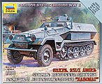 Sd.Kfz.251/1 Ausf.B -- Plastic Model Halftrack Kit -- 1/100 Scale -- #6127
