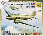 Li-2 Soviet Transport Plane -- Plastic Model Airplane Kit -- 1/200 Scale -- #6140