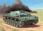Sturmgeschutz III Aust.B Snap Kit -- Plastic Model Tank Kit -- 1/100 Scale -- #6155