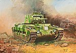 Matilda II British WWII Medium Tank -- Plastic Model Tank Kit -- 1/100 Scale -- #6171