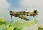 British Fighter Hurricane Mk-1 -- Plastic Model Airplane Kit -- 1/144 Scale -- #6173
