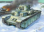 Soviet T35 Heavy Tank (Snap) -- Plastic Model Tank Kit -- 1/100 Scale -- #6203