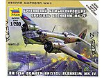 Bristol Blenheim Bristol WWII Bomber -- 1/200 Scale Plastic Model Airplane -- #6230