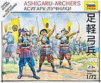 Ashigaru Archers Japanese Samurai -- Plastic Model Military Figure -- 1/72 Scale -- #6414