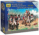French Line Infantry Napoleonic Wars -- 1/72 Scale Plastic Model Military Figure -- #6802