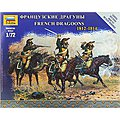 French Dragoons Napoleonic Wars -- 1/72 Scale Plastic Model Military Figure -- #6812