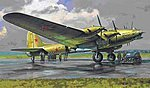 Petlyakov Pe-8 Stalin's Plane w/Figures -- Plastic Model Airplane Kit -- 1/72 Scale -- #7280