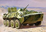 BTR80 Russian Armored Vehicle -- Plastic Model Peraonnel Carrier Kit -- 1/100 Scale -- #7401