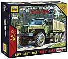 Ural 4320 Russian Army Truck -- 1/100 Scale Plastic Model Military Vehicle -- #7417