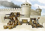 Siege Machines Kit #1 -- Plastic Model Weapon Kit -- 1/72 Scale -- #8014
