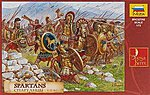 Spartans The Greek Warriors -- Plastic Model Military Figure -- 1/72 Scale -- #8068