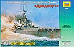 British Battleship Dreadnought -- 1/350 Scale -- Plastic Model Military Ship -- #9039
