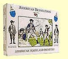 A-Call-To-Arms American Revolution- American Maryland Infantry (16) Plastic Model Military Figure 1/32 #10