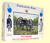 A Call To Arms Napoleonic Wars- British 9-Pdr Cannon (1) -- Plastic Model Military Figure -- 1/32 Scale -- #23