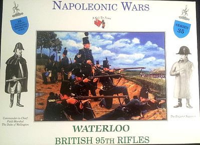 A Call To Arms Napoleonic Wars- Waterloo British 95th Rifles (32) -- Plastic Model Military Figure -- 1/32 -- #35