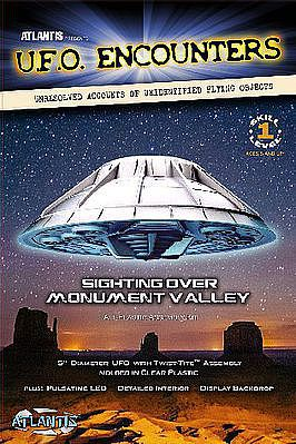 Atlantis Model Company Monument Valley UFO w/LED Lights 5'' Dia. (New Tool) -- Science Fiction Plastic Model