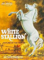 Atlantis White Stallion Horse Plastic Model Animal Kit 1/12 Scale #amc-2001